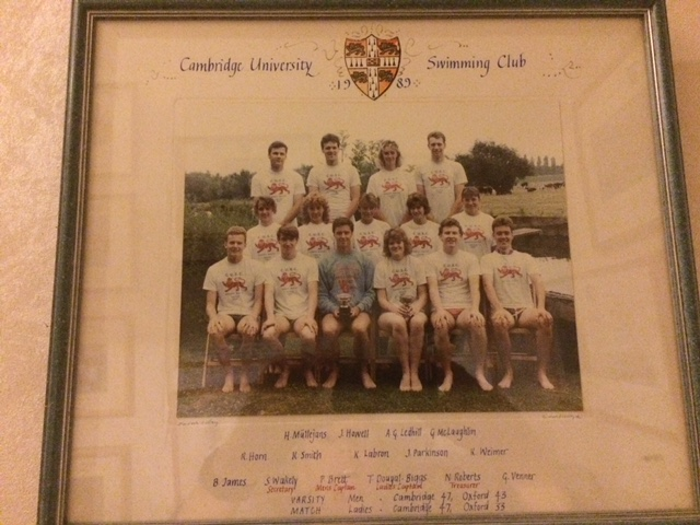 The Cambridge University Swim Team of 1989