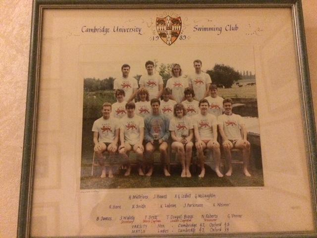 The Cambridge University Swim Team of 1989