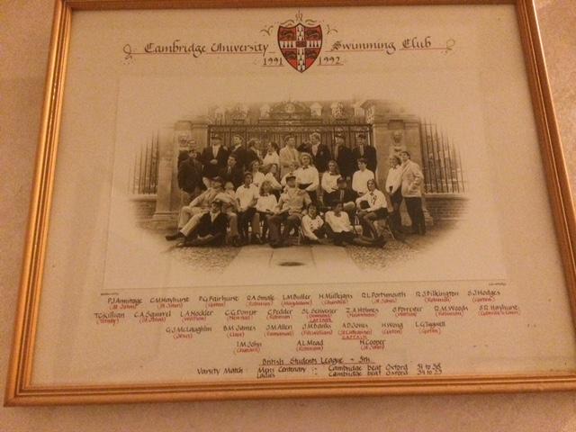 The Cambridge University Swim Team of 1991-1992