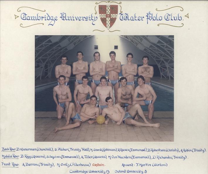 Men's Water Polo 1984-85