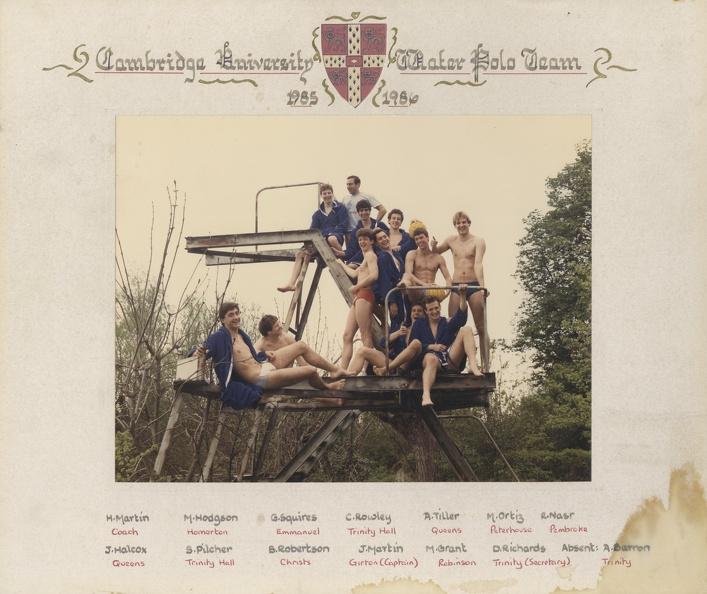 Men's Water Polo 1985-86