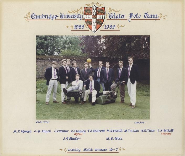 Men's Water Polo 1988-89
