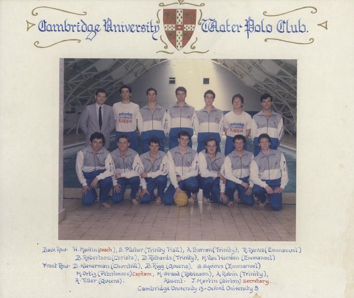 Men's Water Polo Team Photo 1984-85
