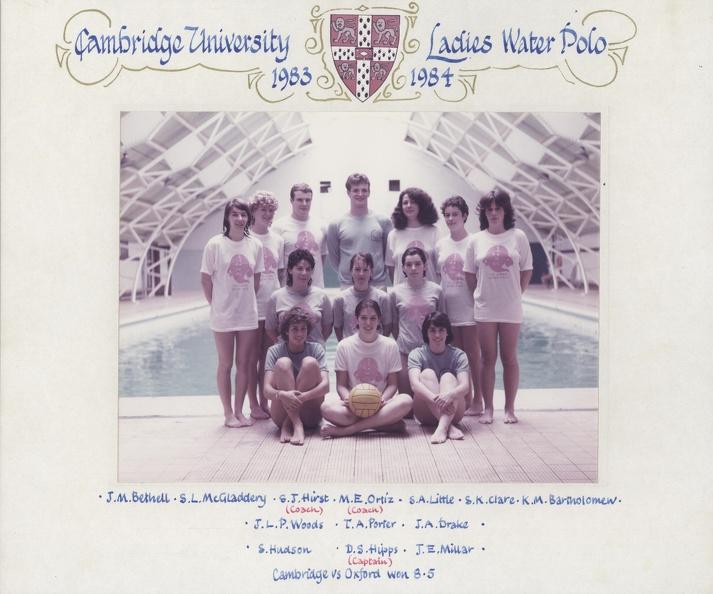 Women's Water Polo Team 1983-84