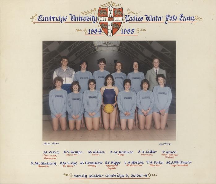 Women's Water Polo Team 1984-85