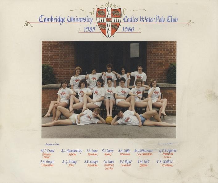Women's Water Polo Team 1985-86