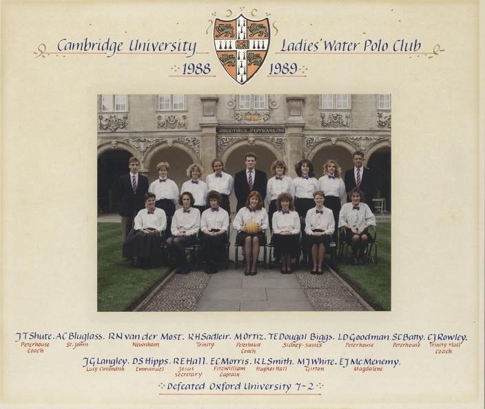 Women's Water Polo Team 1988-89
