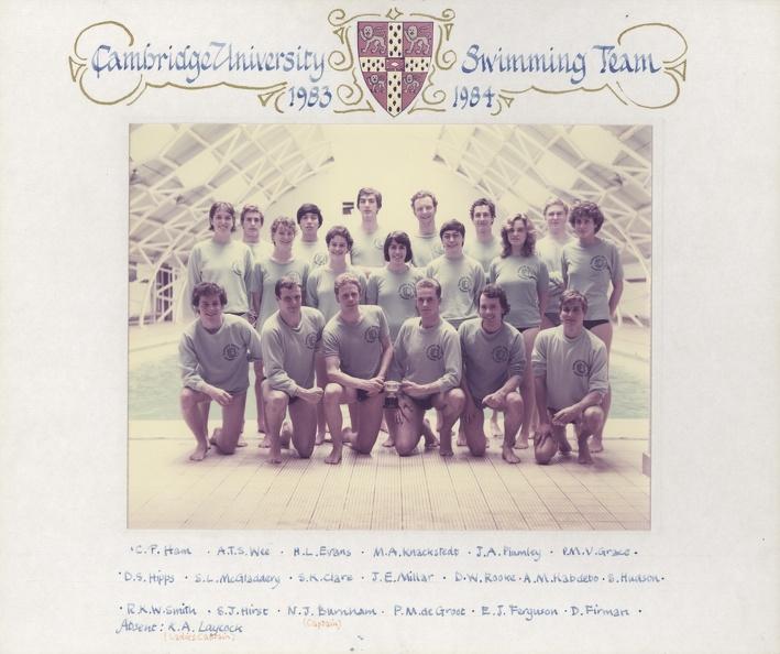 Swimming Club 1983-84